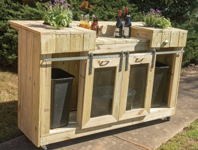 Build a Planter Bar from Treated Wood