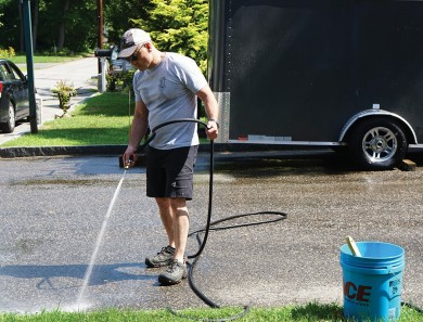 Clean your Driveway, the Right Way
