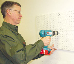 Companies such as Stringliner offer pegboard organizing systems to make smart use of wall space.