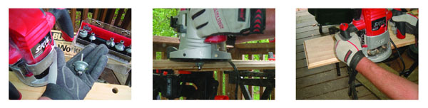 Sharp, quality router bits are a must. I chose an ogee profile … I routed the decorative profile on the edge of the top and bottom boards … When routing deep cuts, make a few successive passes, lowering the cutting depth with each pass.