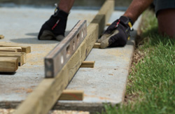 Diy steps for building a deck over a patio slab the low for Building a low profile deck
