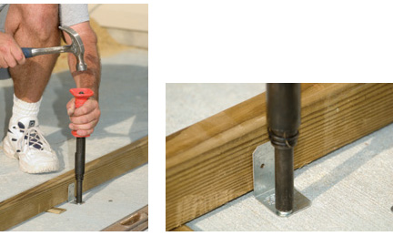 How to install decking over concrete slab