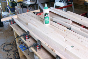 Gluing the Platform for the countertop Build a Butcher Block Countertop