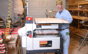 The Craftsman drum sander also has a roller and support on the top, making it easy to manhandle large pieces such as the countertop form the out--feed back to the in--feed table.