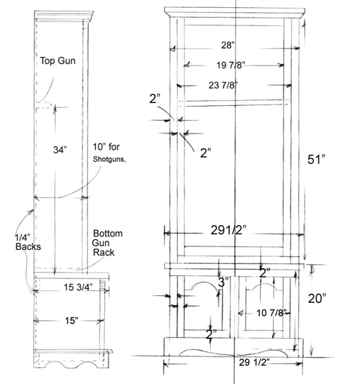 very basic gun cabinet plans