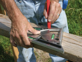 You can also hold the squre in place and use it as a portable circular saw guide.