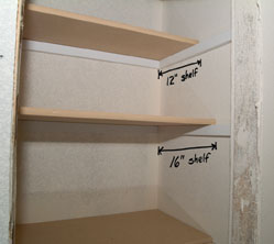 Note That The Top Shelf In A Linen