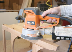Fill all holes and cracks with oak wood putty
