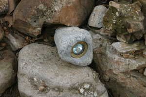 "Lighting products can be ""fun"", including this ""rock"" light that blends naturally into the landscape."