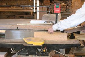 Narrow quarter-sawn strips