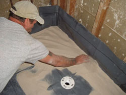 If Installing A Single Piece Composite Floor, First Install A Bed Of Sand  Above The Liner.