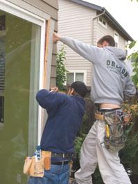 Carefully remove the exterior trim.