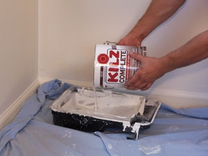 Use a high-quality primer to seal out stains and odor.