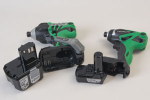 Hitachi offers impact drivers in two sizes, 14.4V and 10.8V.
