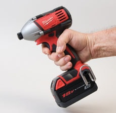 Compact heads make it easy to maneuver impact drivers in confined work spaces.