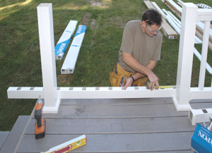 Installing a synthetic railing system extreme how to for Fypon quick rail