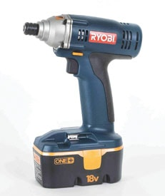 The Ryobi P230 operates on the interchangeable One+ battery system.