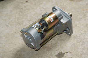 The starter and the solenoid, the smaller cylinder, are sold as a unit. The solenoid is the largest of several relay switches in your car. The ignition switch operates this large remote switch, which in turn connects/disconnects power to the starter.