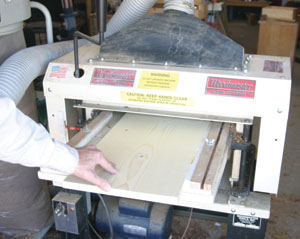 A wood master wood planer