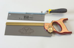 These two backsaws have a rib along the back to keep the blade very rigid for precise cuts.