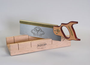 Backsaws often come with miter boxes.