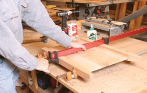 Clamp the joints