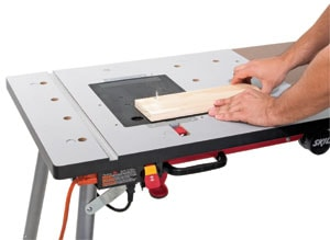 X-Bench doubles as a router table