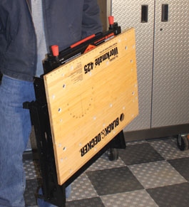black & decker foldable workbench how to use
