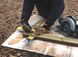 If you're toe-nailing the fence, then the stringers that follow a slope should be cut at a miter to fit flush between the plumb posts.