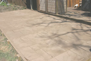 The stamped concrete and release agent shoudl be allowed to cure for at least 48 hours.