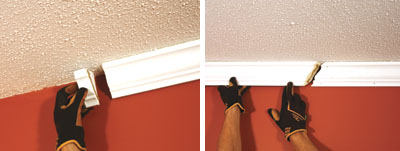 Crown molding simplified extreme how to for Miterless crown moulding