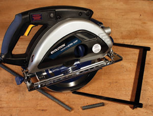 The Rage multipurpose saw cuts wood, steel and aluminum with the same blade.