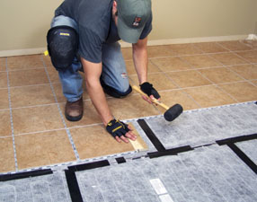 Installing a heated tile system