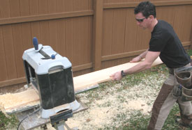 "I use a thickness planer to mill 1/2"" stock for a double window's center mullion."