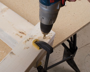Good, solid clamping keeps the holes aligned.