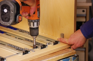 Max30 install lock tabs LOW Build a Deluxe Tool Storage Cabinet