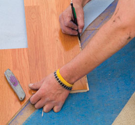 When measuring for wires, be sure to measure to the center of the hole in the subfloor.