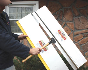 Paint shields protect areas from unwanted overspray.