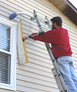 prepping priming and repainting exterior metal siding
