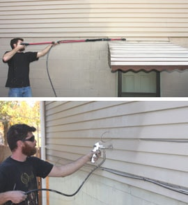 Prepping priming and repainting exterior metal siding for How to get paint off siding