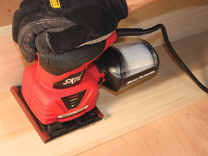 Powered orbital sanders, also called pad or palm sanders, are available in models that use 1/2-, 1/4- or 1/3-sheets of sandpaper.