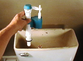 The One2Flush water-saving fill valve was used as the replacement.