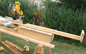 The T&G siding came in 16' lengths and needed to be trimmed to size. Instead of measuring each one, I jigged up my miter saw cut-station and cut them--accurately--at production speed. What a time saver.