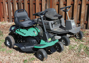 Despite having a smaller overall footprint, the Weedeater One features a more comfortable and spacious operator's area than older styles of mowers with rear-mounted engines.