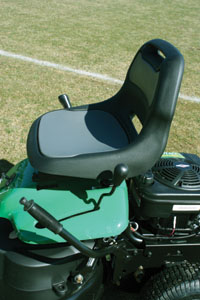 Mower controls are kept to a minimum for homeowner-friendly simplicity.