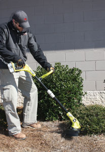 Ryobi's One+ lineup includes four new 18-volt lawn tools, including a cordless string trimmer.