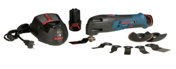 Oscillating tools are built to power a wide range of accessories, from blades and scrapers to sanding attachments.