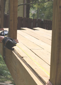 """Measure carefully the handrail length between posts. If using Deckorators Railing Connectors, subtract 1/2"""" from the measurement and cut to size."""