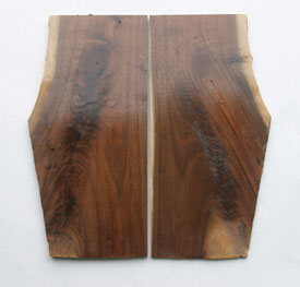 This beautiful matched walnut comes from a discarded tree top.