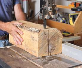A bandsaw with resaw blade can also be used to mill small wood chunks, or whatever you can lift and support on the saw table.
